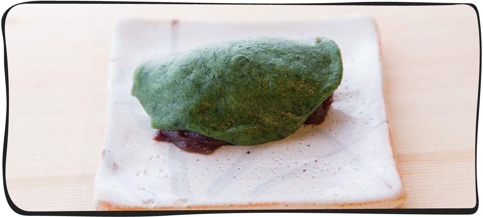 草餅を作っている画像08